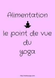 yoga et alimentation