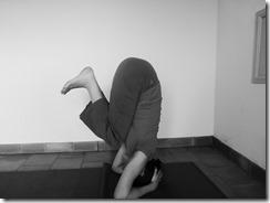 posture sur la tête : étape 1