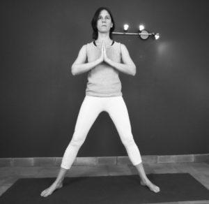 la posture du triangle : position de départ